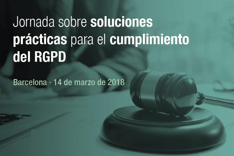 Jornada sobre soluciones prácticas para el cumplimiento del RGPD
