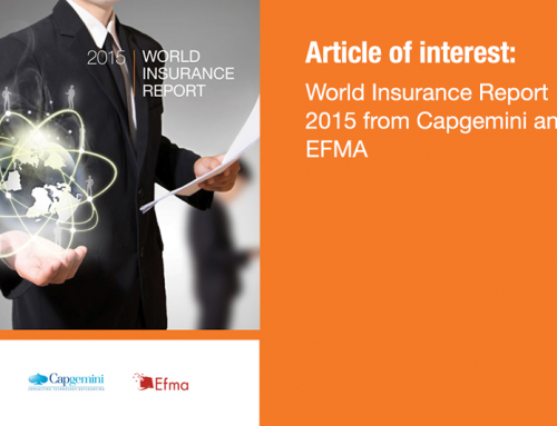 World Insurance Report 2015 from Capgemini and EFMA