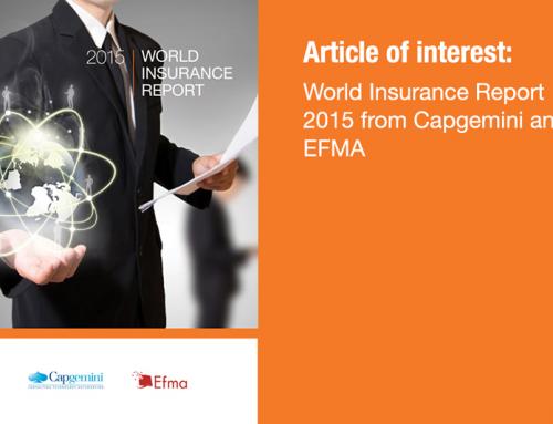 World Insurance Report 2015 from Capgemini and EFMA