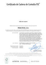 Certificado Cadena de Custodia FSC