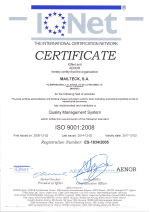 Certificado ISO 9001 IQNET